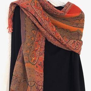 Gorgeous vintage Codello beaded cashmere shawl